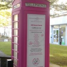 Pretty In Pink Telephone Box