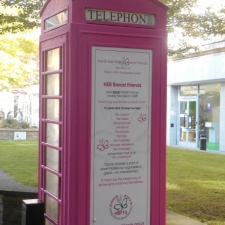 Pretty In Pink Telephone Box